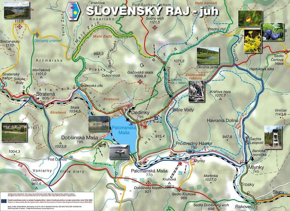 Turisticka Mapa Oficialne Stranky Obce Dedinky